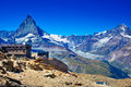 Matterhorn mountain alps summer landscape Stock Photography