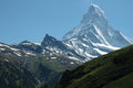 Matterhorn peak in alps in switzerland Royalty Free Stock Images