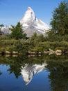Matterhorn Reflection in Grindjisee Lake Royalty Free Stock Photo