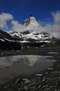 Matterhorn with reflection mountain water Royalty Free Stock Photos