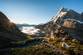 Matterhorn from Schoenbiel mountain hut Stock Images