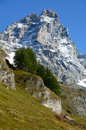 The matterhorn seen from italian side m above sea level Royalty Free Stock Photo