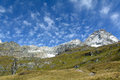The matterhorn seen from italian side m above sea level Royalty Free Stock Images