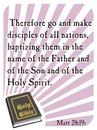 Matthew 28:19 - Holy Bible Stock Images