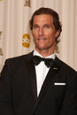 Matthew mcconaughey at the rd annual academy awards press room kodak theater hollywood ca Royalty Free Stock Photo