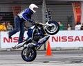 Mattie Griffin performing a wheelie Royalty Free Stock Photo