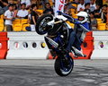 Mattie Griffin performing a wheelie with his bike Royalty Free Stock Photo