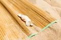 Matting on sand Royalty Free Stock Photo