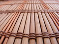 Mattt ställe för bambu Fotografering för Bildbyråer