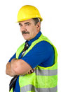 Mature architect man with hard hat Royalty Free Stock Photos