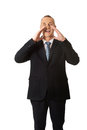 Mature businessman calling for someone Royalty Free Stock Image