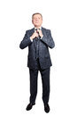 Mature Businessman wearing Suit. Senior Man Isolated Royalty Free Stock Photo