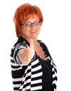 Mature businesswoman Stock Photo