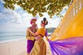 Mature couple dressed in Balinese costume Royalty Free Stock Photo