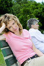 Mature couple having relationship problems Royalty Free Stock Photography
