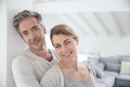 Mature couple portrait at home Royalty Free Stock Photo