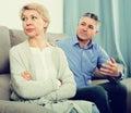 Mature couple quarrels