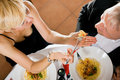 Mature Couple romantic dinner Royalty Free Stock Photography