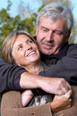 Mature couple smiling Stock Photos