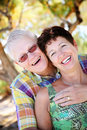 Mature couple smiling and embracing Royalty Free Stock Photos