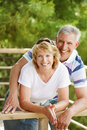 Mature couple smiling and embracing Royalty Free Stock Photo