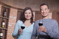 Mature couple at a winetasting Stock Photography