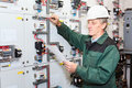 Mature electrician Royalty Free Stock Photo
