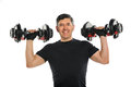 Mature Hispanic Man Exercising Stock Photo