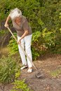 Mature Lady Gardening Royalty Free Stock Images