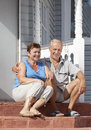 Mature loving couple Stock Images