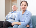 Mature married couple having quarrel Royalty Free Stock Photo