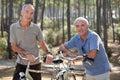 Mature People On Bikes