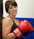 Mature Woman boxing Stock Photos