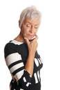 Mature woman looking troubled Royalty Free Stock Photo