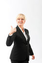Mature woman with thumbs up Stock Images