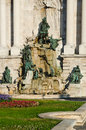 Matyas fountain budapest landmark hungary king courtyard of the royal palace designed by alajos strobl in Royalty Free Stock Photography