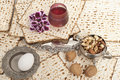 Matza bread for passover celebration Stock Photo