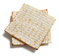 Matza bread on white Royalty Free Stock Image