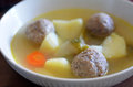 Matzah balls Jewish soup Royalty Free Stock Photo