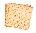 Matzoh jewish passover bread isolated background Royalty Free Stock Photo