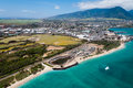 Maui aerial view of kahului hawaii Stock Photography