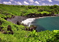 Maui Black Sand Beach  Stock Image