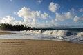 Maui hawaii beach with clouds in the sky Stock Photo