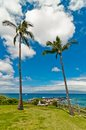 Maui s famous kaanapali beach resort area hawaii september tourists enjoy ocean view in west Stock Photo