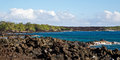 Maui s rocky coastline along la perouse bay Royalty Free Stock Photo