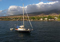 Maui sailboat off of the coast of Royalty Free Stock Photos