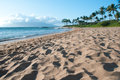 Maui sand beach before the sunset Royalty Free Stock Image