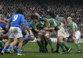 Maul,Ireland V Italy,6 Nations Rugby Royalty Free Stock Photography