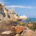 Maumere fortress and sea near Anamur, Turkey Royalty Free Stock Photo