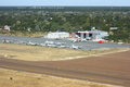 Maun airport in botswana aerial view of africa Royalty Free Stock Photo